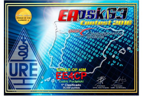Resultados concurso EA PSK63 2016