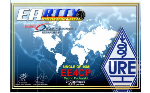 Resultados concurso EA RTTY 2016
