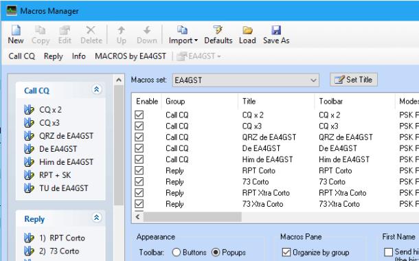 Macros para modos digitales usando Ham Radio Deluxe