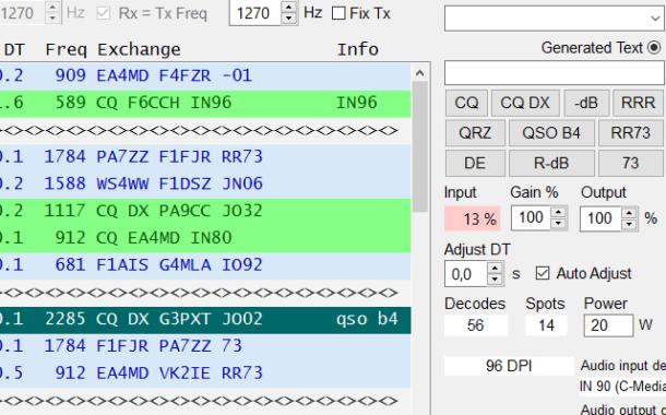 Configurando JT65-HF de HB9HQX - Parte 2